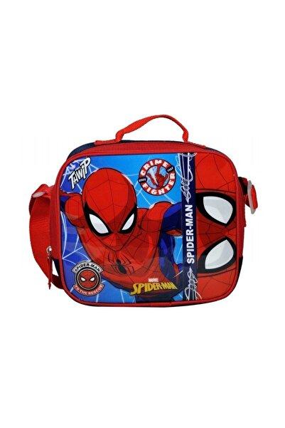 Disney Spiderman Erkek Çocuk Kırmızı Spider-Man Kabartmalı Okul Beslenme Çantası 96614