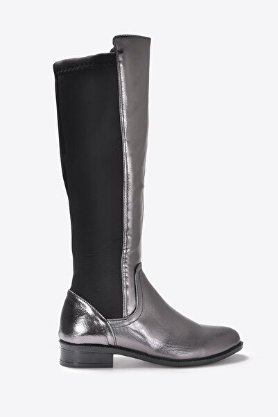 Vizon Ayakkabı Kadın Platin Çizme Vzn20-050k