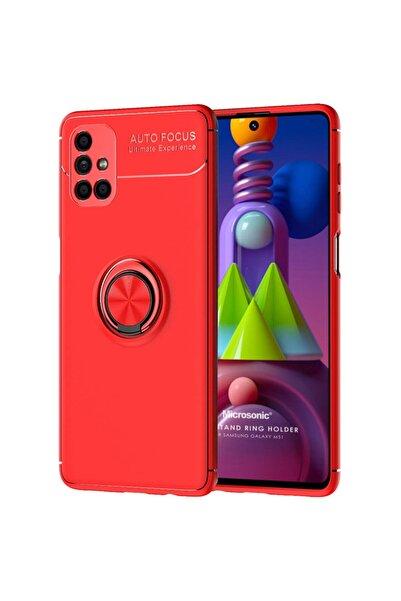 Microsonic Microsonic Galaxy M51 Kılıf Kickstand Ring Holder Kırmızı