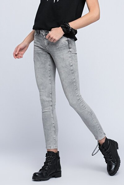 Loft Kadın Gri Pantolon