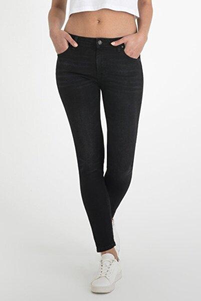 Loft Kadın Siyah Skinny Fit Yüksek Bel Kot Pantolon