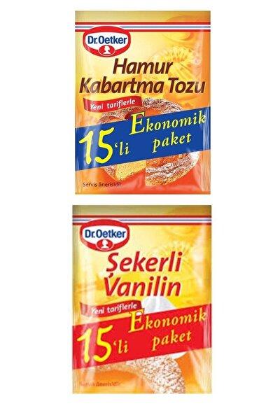 Dr. Oetker Dr.oetker 15'li Set 15 Şekerli Vanilin + 15 Hamur Kabartma Tozu