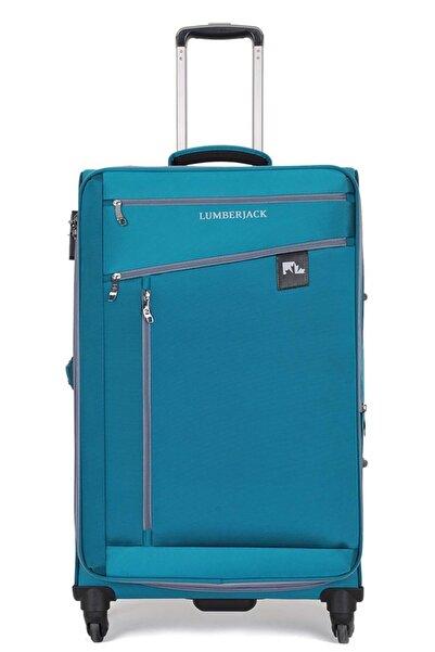lumberjack Unisex Mavi 4 Tekerlekli Büyük Boy Valiz