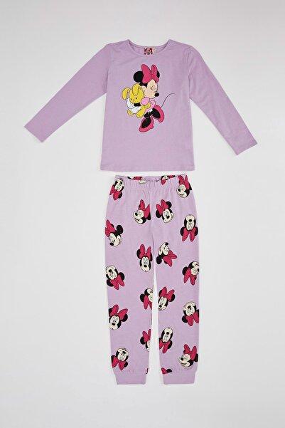 DeFacto Kız Çocuk Mickey & Minnie Lisams Baskılı Pijama Takımı