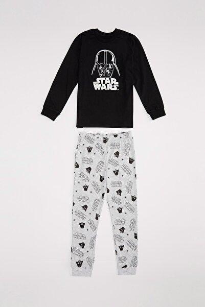 DeFacto Star Wars Lisanslı Regular Fit Pijama Takım