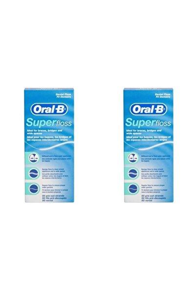 Oral-B Diş Ipi Super Floss 50 Adet X 2 Kutu