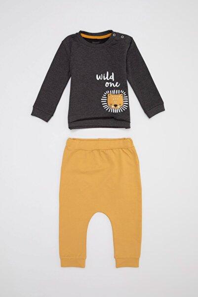 DeFacto Erkek Bebek Jogger Eşofman Ve Sweatshirt Takım