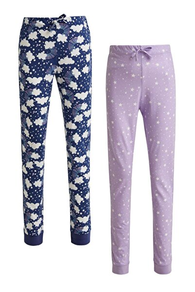 DeFacto Kız Çocuk Baskılı 2'li Pijama Takım