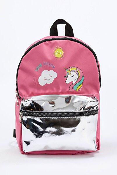 DeFacto Kız Çocuk Unicorn Baskılı Sırt Çantası