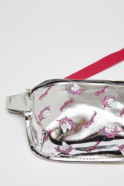 DeFacto Kız Çocuk Unicorn Baskılı Bel Çantası