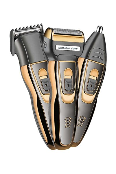 yopigo 3 In 1 Profesyonel Saç Sakal Kesme Ense Burun Traş Tıraş Makinesi Seti