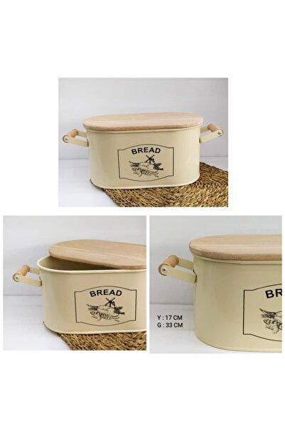 MİEN Kesme Tahtalı Ekmeklik Krem-siyah Baskı