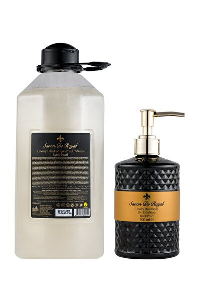 Savon De Royal Luxury Vegan Sıvı Sabun Black Pearl 2500 Ml & 500 Ml