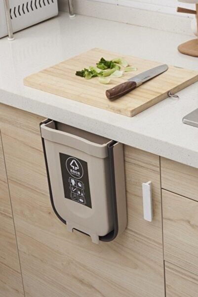 Ersamica Taşınabilir Katlabilir Mini Çöp Kutusu Çöp Torbası Raf Alanı Tasarruflu Çöp Kutusu