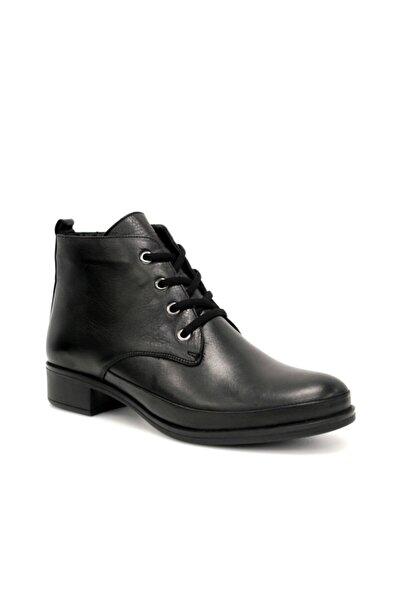 Beta Shoes Hakiki Deri Kadın Bot Siyah