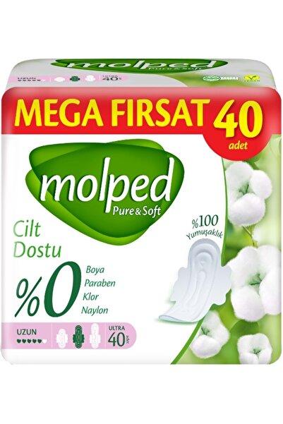 Molped Pure&Soft Hijyenik Ped Mega Fırsat Pk Uzun 40 Adet Tekli Paket