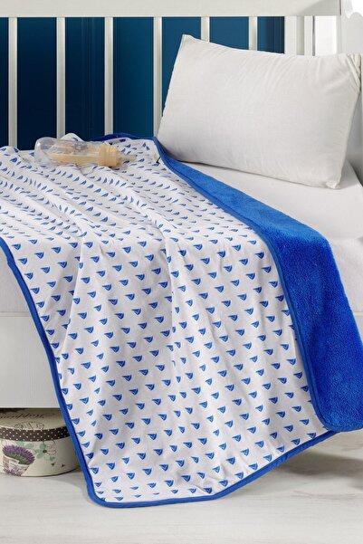 DENIZLI CONCEPT Mavi Sailing Çift Yüz Bebek Battaniyesi 70x110