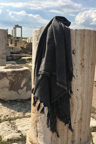 DENIZLI CONCEPT Antrasit Efes Taşlanmış Peştemal