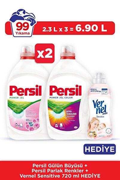 Persil Jel 2 Gülün Büyüsü + 1 Color 33 Yıkama 3'lü Set + Vernel 720 Ml Hediyeli