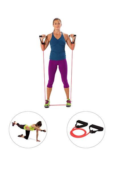 Spor Byfit Yüksek Sert Tutacaklı Pilates Egzersiz Direnç Lastiği