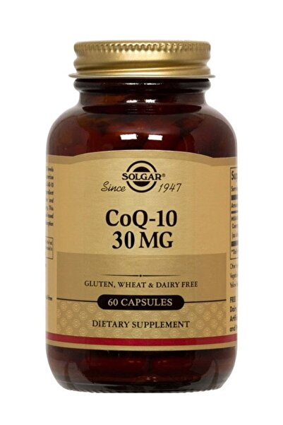 Solgar Coq-10 ( Koenzim Q-10 ) 30 Mg 60 Veg. Kapsul Skt:07/2022