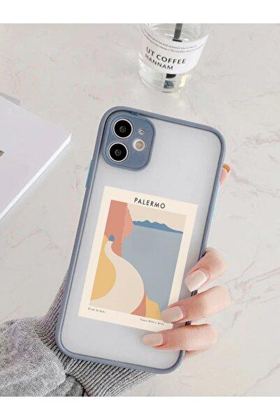 mooodcase Iphone 11 Uyumlu Füme Kamera Lens Korumalı Palermo Desenli Lüx Telefon Kılıfı