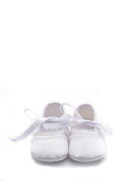 First Step Beyaz Bebek Patiği-f-118