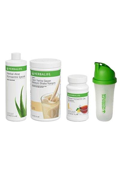 Herbalife Başlangıç Seti-2 ( 1 Vanilyalı Shake+limon 50 Gr Çay+aloe Konsantre Içecek+ Shaker