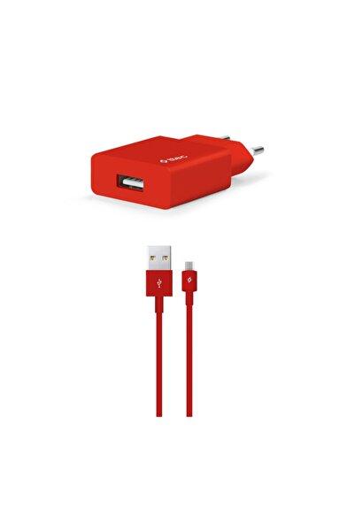 Ttec Smartcharger Seyahat Şarj Aleti 2.1a + Micro Usb Kablo Kırmızı