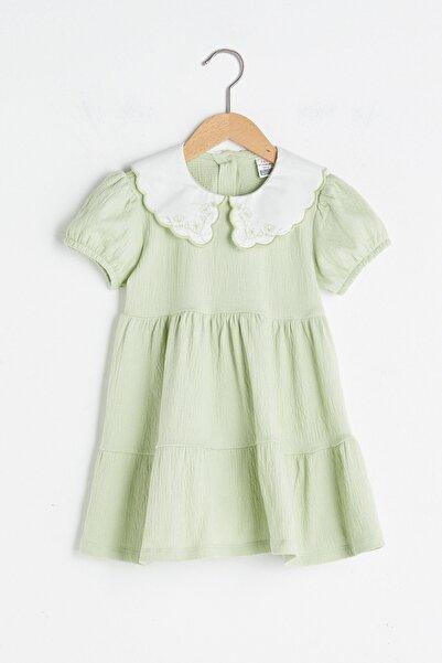 LC Waikiki Kız Bebek Açık Yeşil G2G Elbise