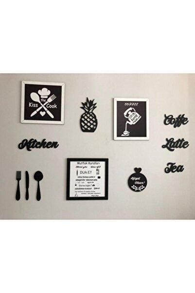 AHŞAP ATÖLYE Çerçeveli Mutfak Kuralları Tabloları Ve Mutfak Panoları