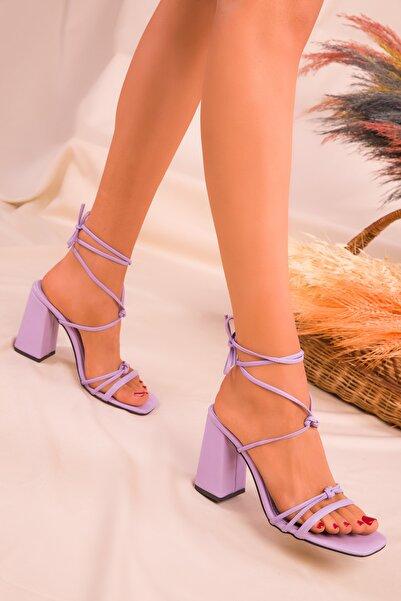 SOHO Lila Kadın Klasik Topuklu Ayakkabı 16175