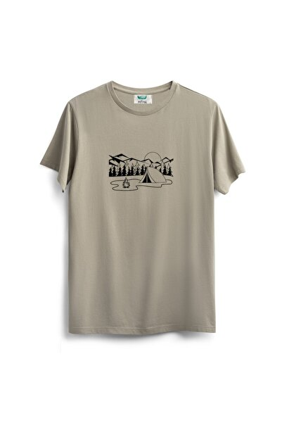 Outrail Bej Camping T-shirt