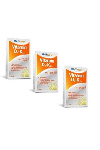 Wellcare Vitamin D3+k2 1000 Iu 12ml Sprey 3 Lü Ekonomik Paket