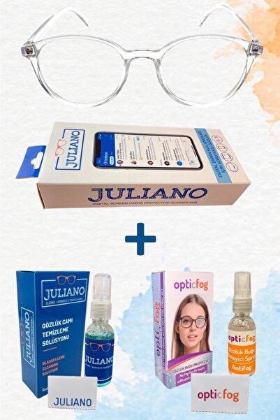 JULIANO Şeffaf Ekran Gözlüğü + Opticfog + Bakım Solüsyonu