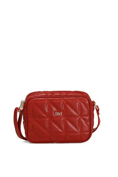 İnci Kanna Kırmızı Kadın Çapraz Çanta