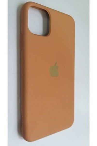 Iphone 11 Promax Taba Rengi Lansman Silikon Kılıf Içi Kadife Logolu