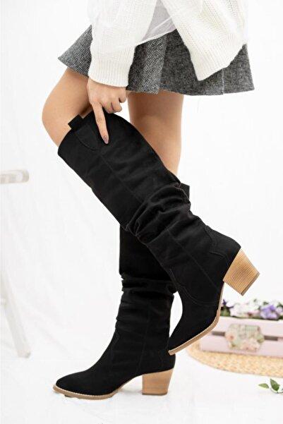 Nar Kadın Siyah Kovboy Çizme
