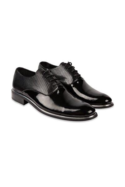 SÜVARİ Erkek Siyah Klasik Rugan Ayakkabı