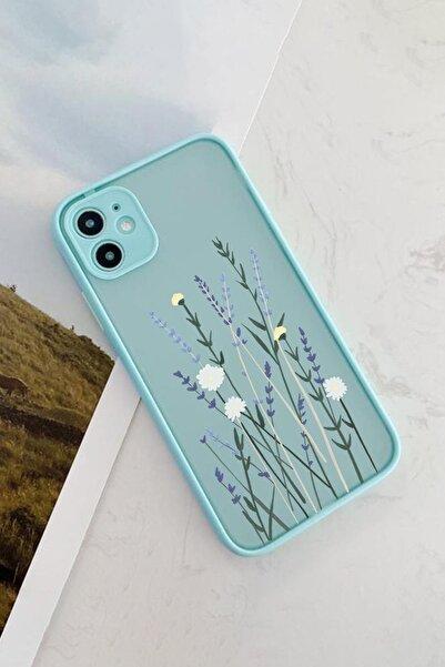 Spoyi Iphone 11 Mavi Hux Soft Lavander Tasarımlı Telefon Kılıfı
