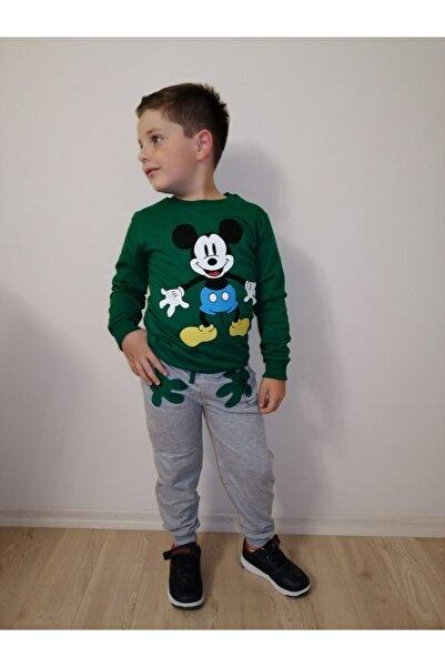 Mickey Mouse Erkek Çocuk Yeşil Alt Üst Takım