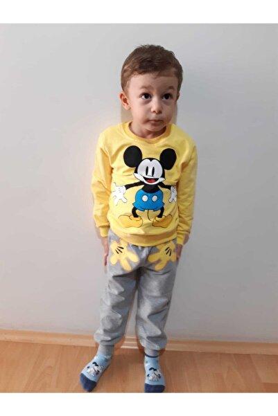Mickey Mouse Unisex Çocuk Sarı Takım
