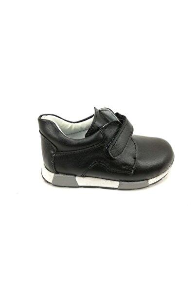 Anıl Siyah Cırtlı Erkek Bebe Klasik Ortopedik Ayakkabı
