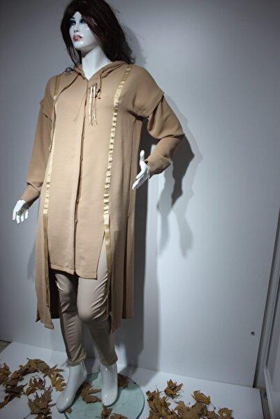 Puane Kadın Bej Kapüşonlu Ceket