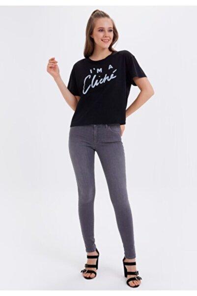 Loft Kadın Gri Nıcole Skinny Fit Pantolon