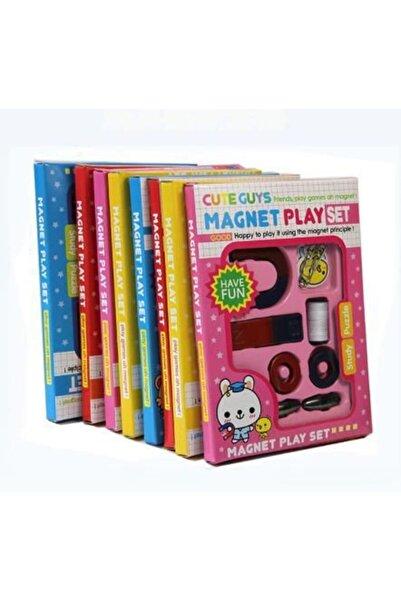 Cute Mıknatıs Oyun Deney Seti Çocuklar Için Magnet Play Set Eğitici