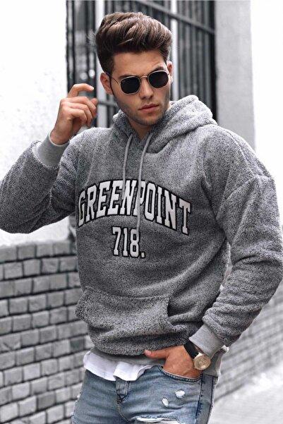 Madmext Erkek Gri Peluş Sweatshirt 4762