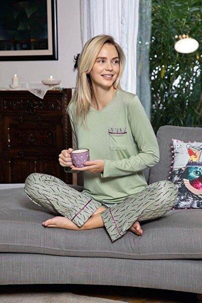 Mossta Kadın Mint Trend Viskon Kadın Pijama Takımı
