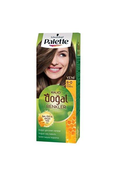 Palette Kalıcı Doğal Renkler Saç Boyası 6-0 Koyu Kumral