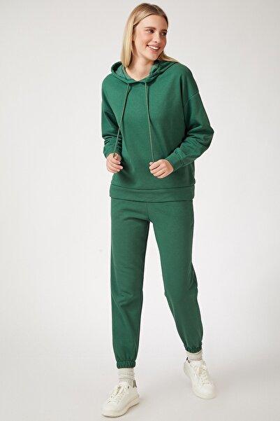 Happiness İst. Kadın Yeşil Polarlı Kışlık Eşofman Takımı HF00165